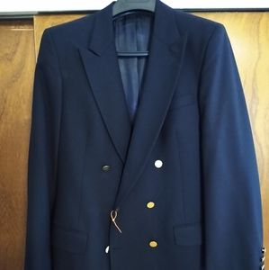 Vintage Burberry Double-breasted Navy Blazer 40R